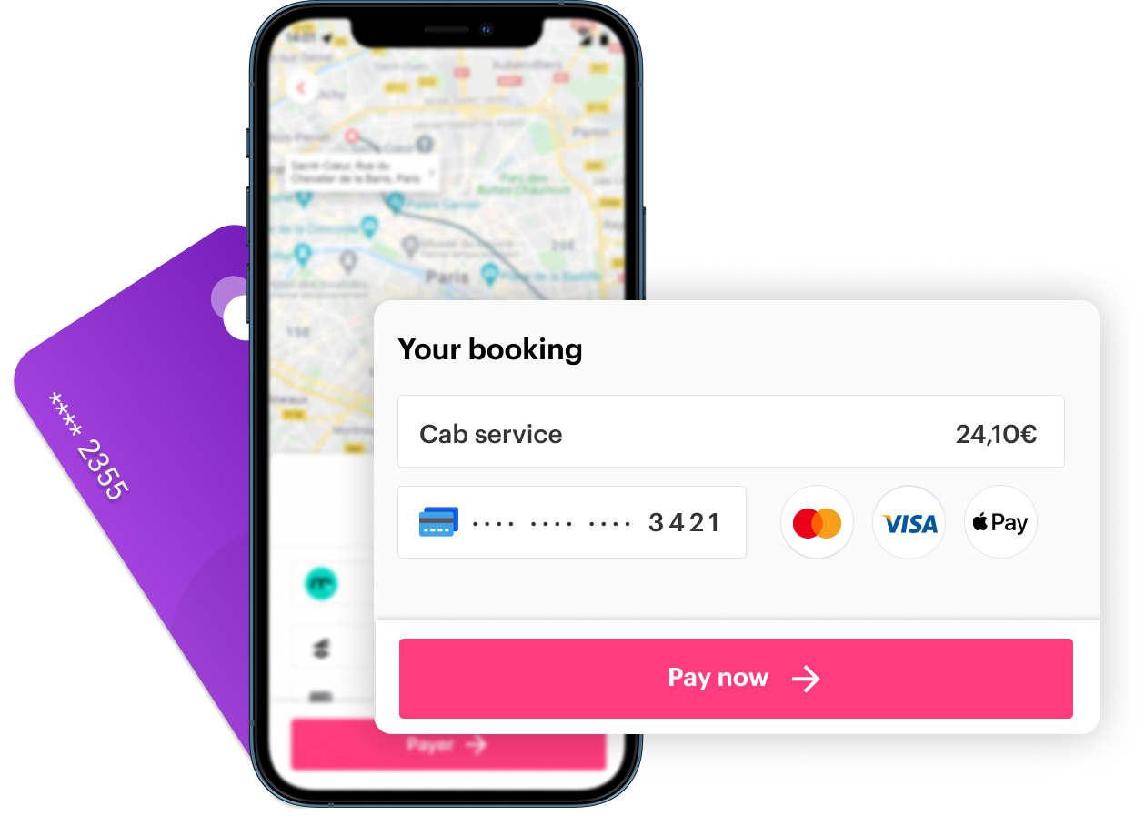 Booking, payment and invoicing features
