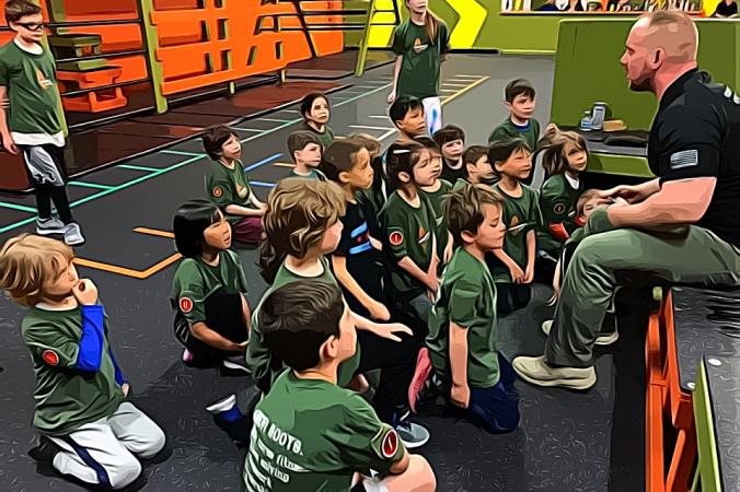 children listen carefully to the coach