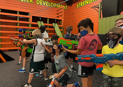 kids with weapon toys