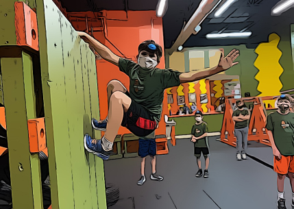happy kid in training at hot ground gym