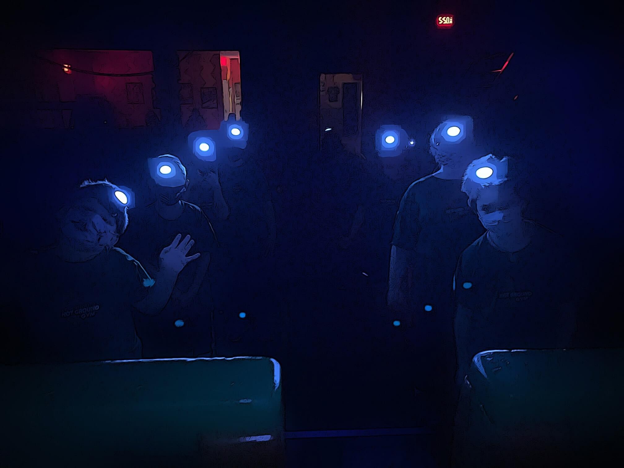 blue lights on kids