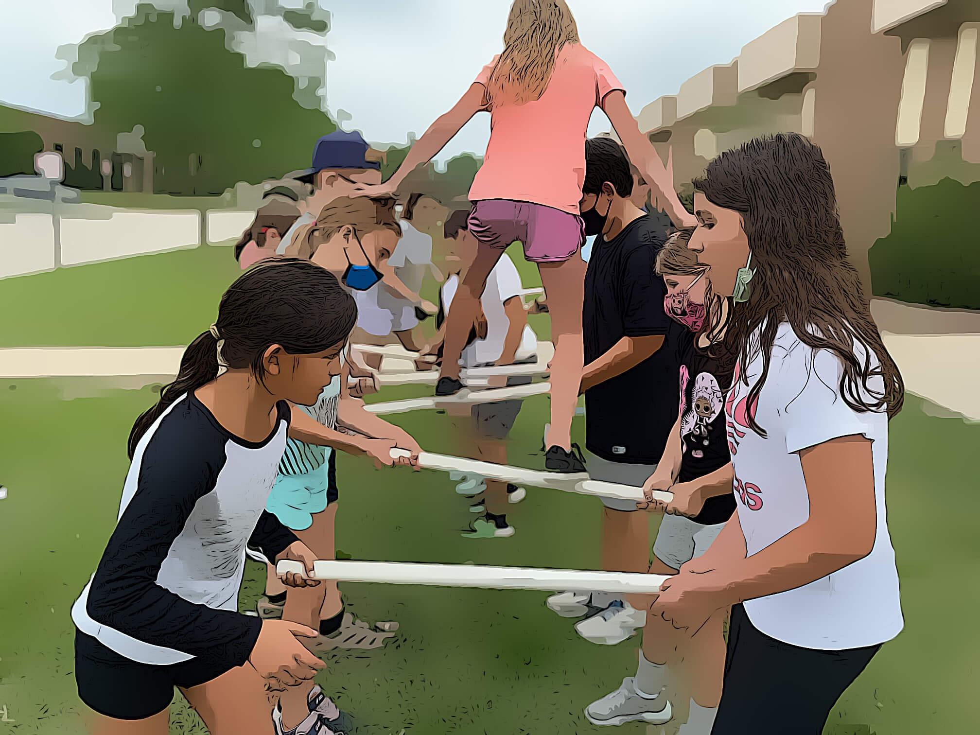 Children in Hot Ground Gym summer camp