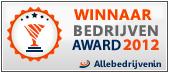 Winnaar bedrijven award 2012
