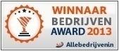 Winnaar bedrijven award 2013