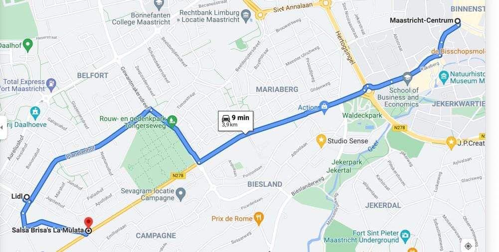 Aangepaste route 1