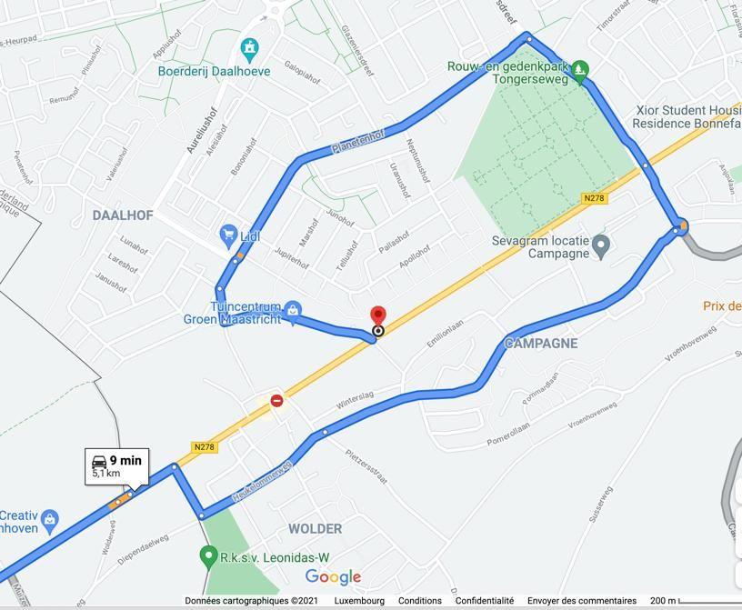 Aangepaste route 2.