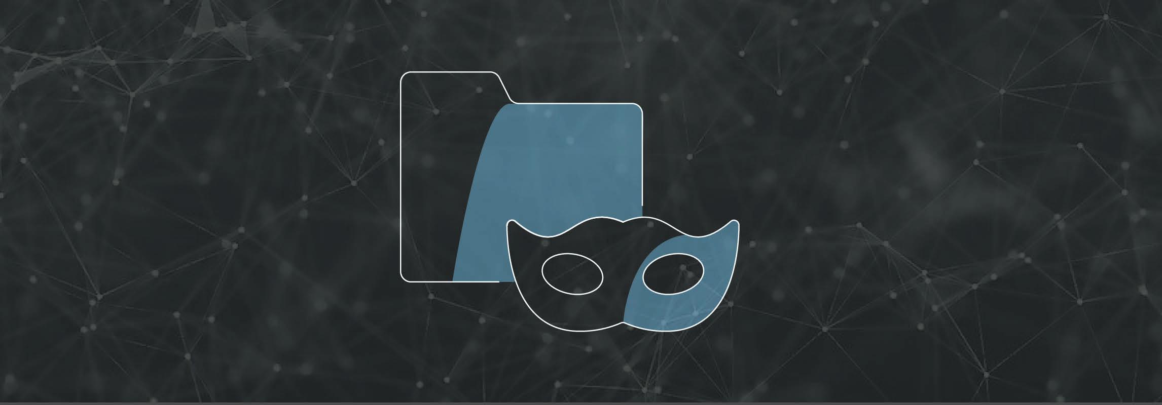 Libelle DataMasking Icon on Networking Background