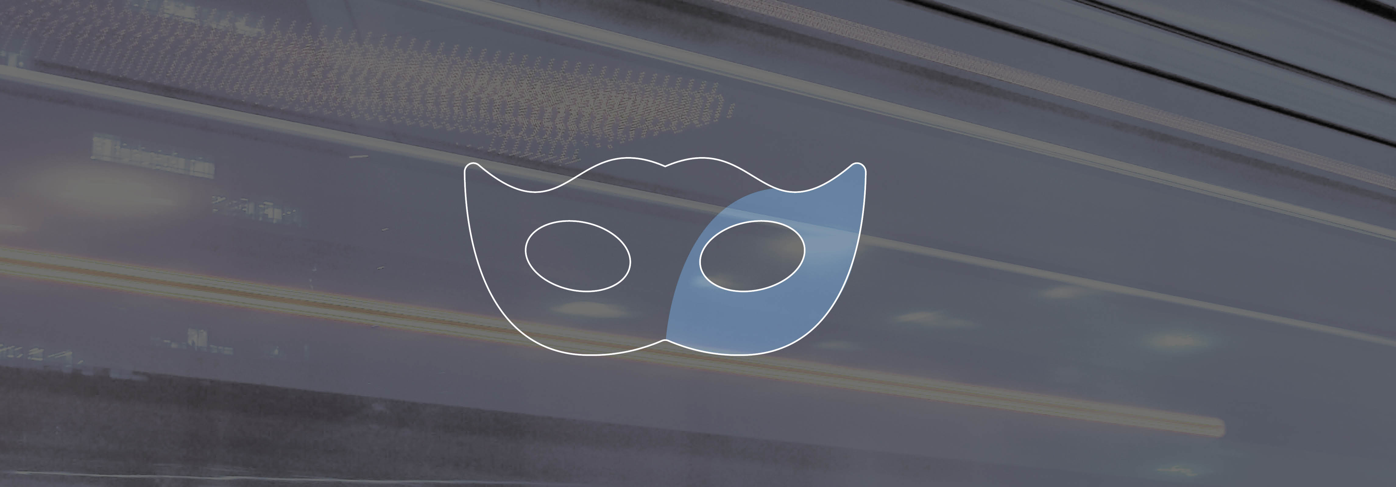 Mask Icon on flashlights in the background
