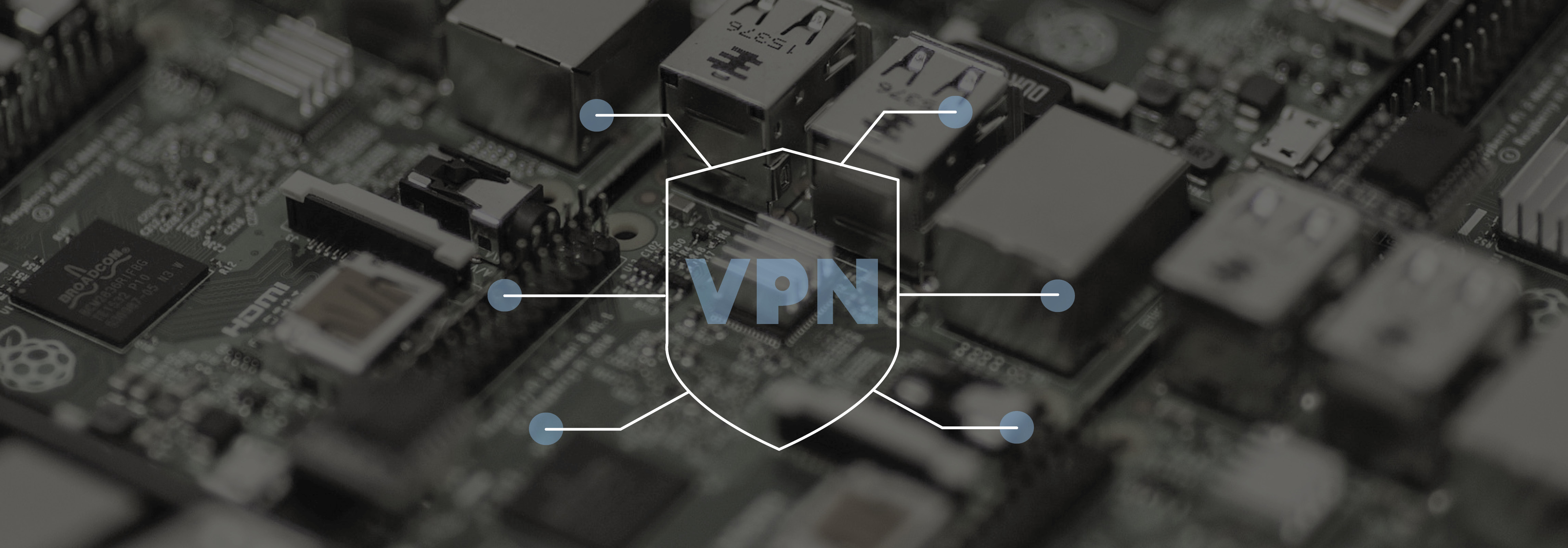 Circuit board with VPN icon