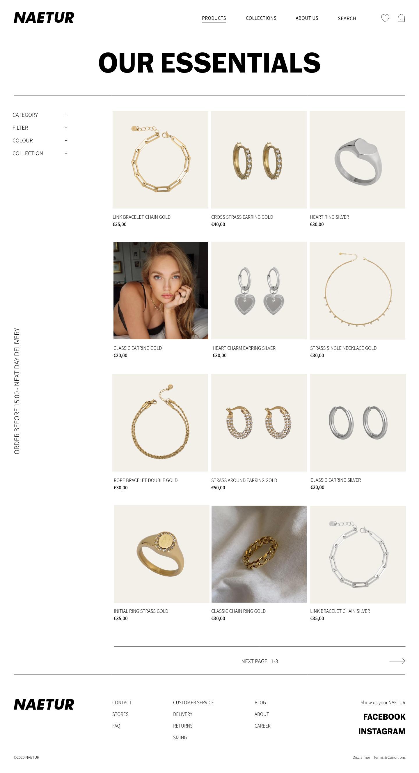Naetur Website Design