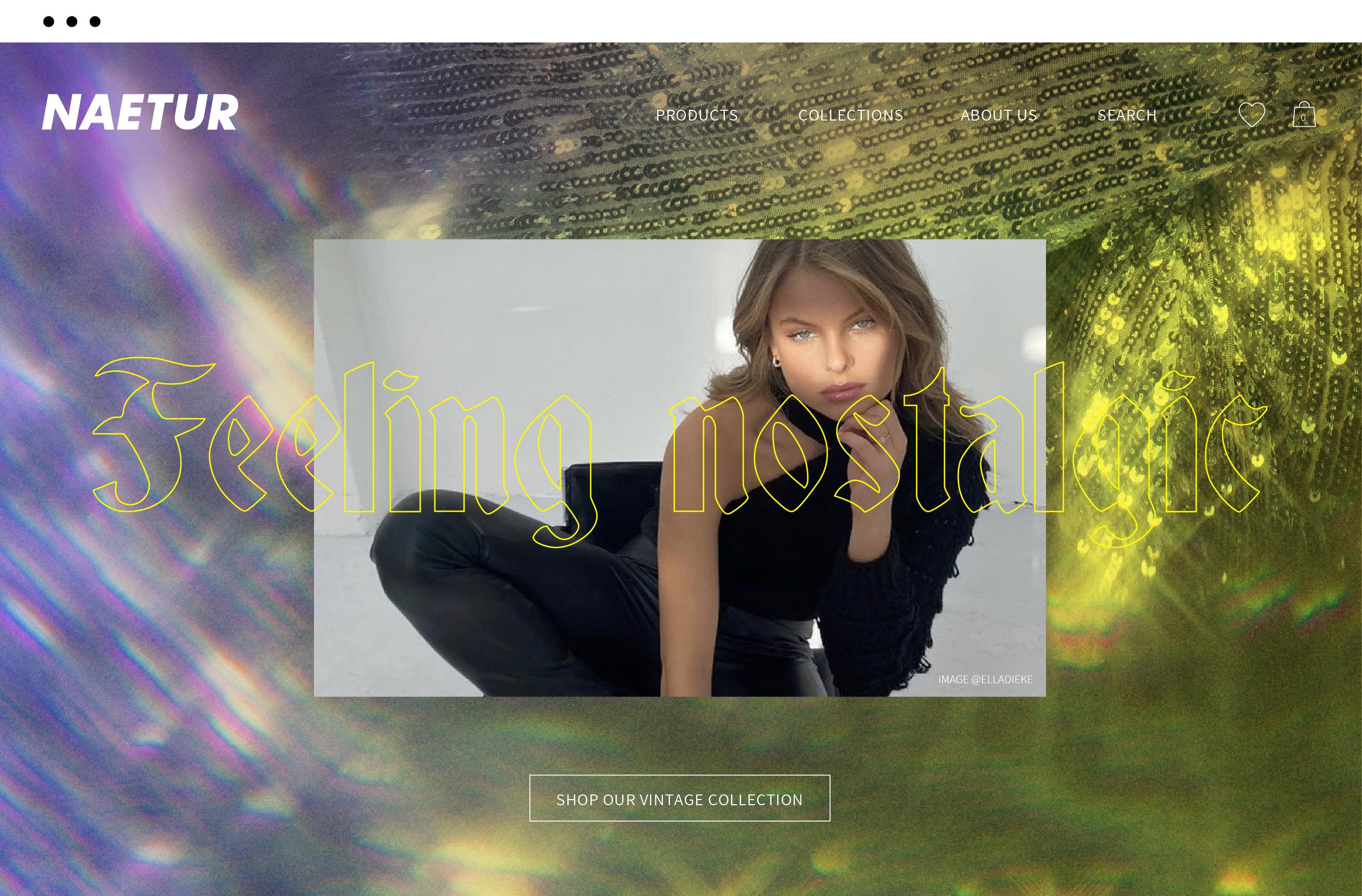 Naetur Website Design Theme Feeling Nostalgic