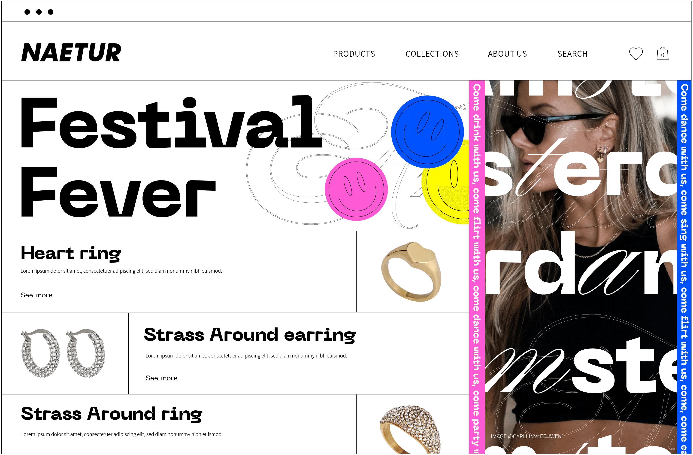 Naetur Festival Fever Campaign creative website homepage design