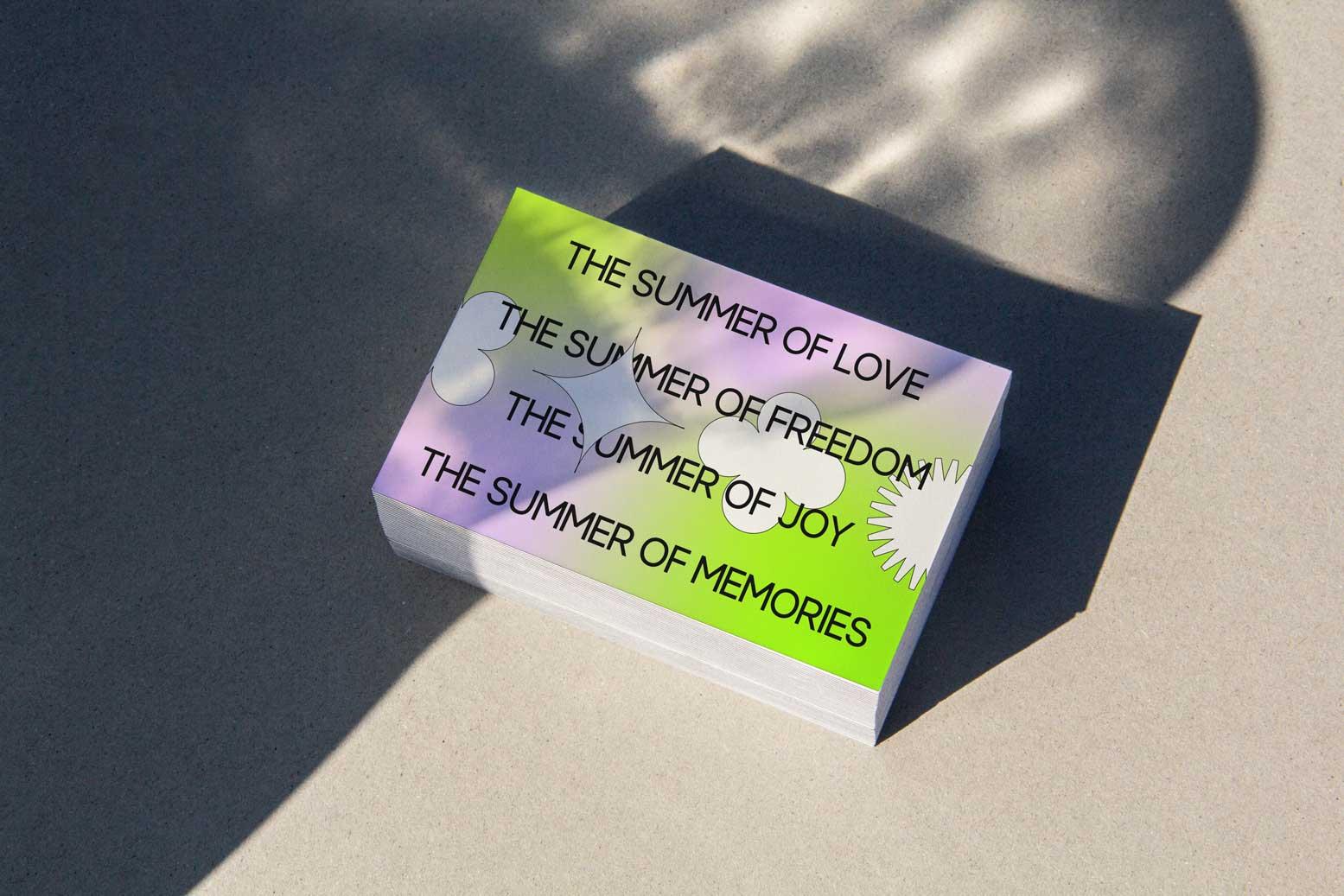 Naetur Summer Shimmer print design