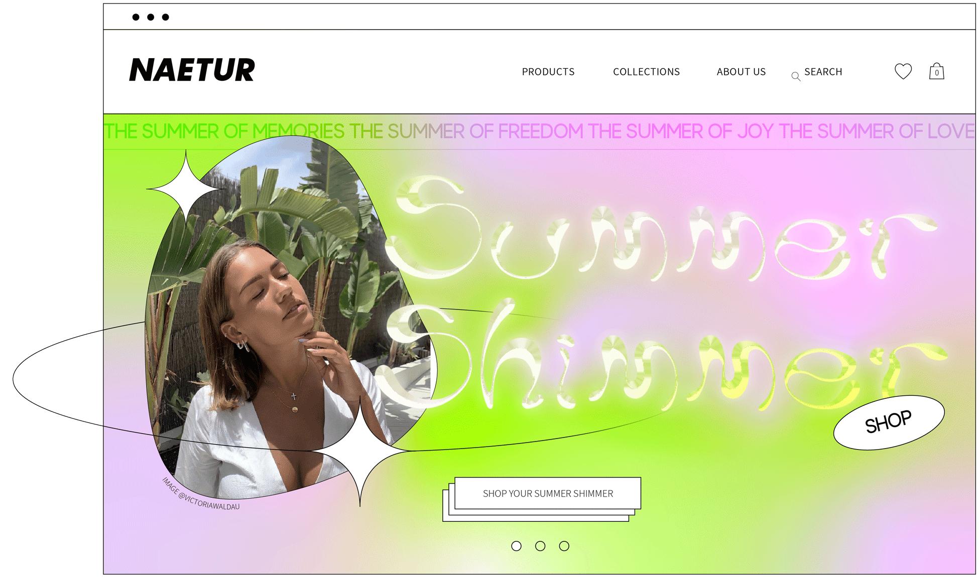 Naetur Summer Shimmer design art direction and branding