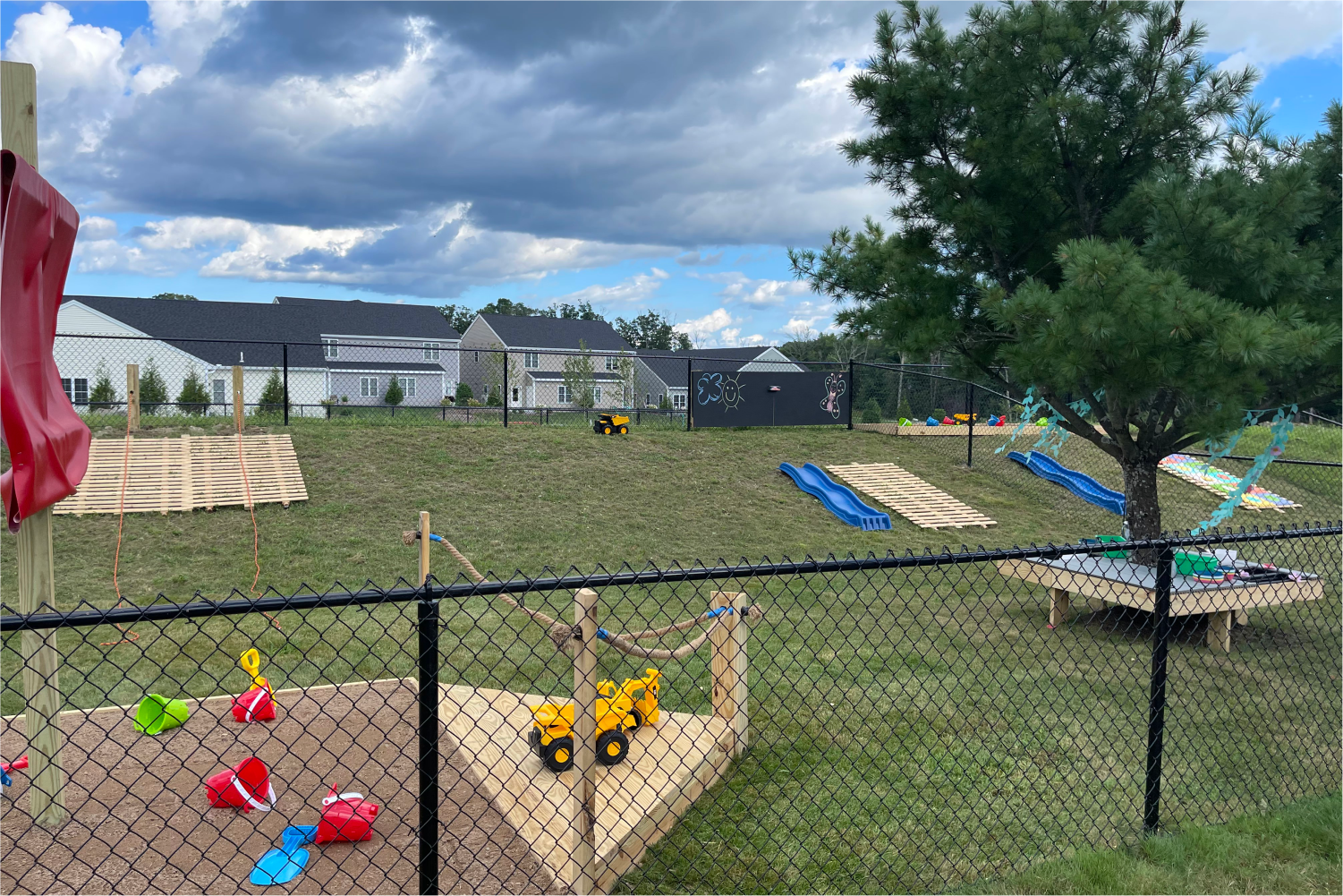 The natural playground at our StoryHeights Montessori Wrentham Location