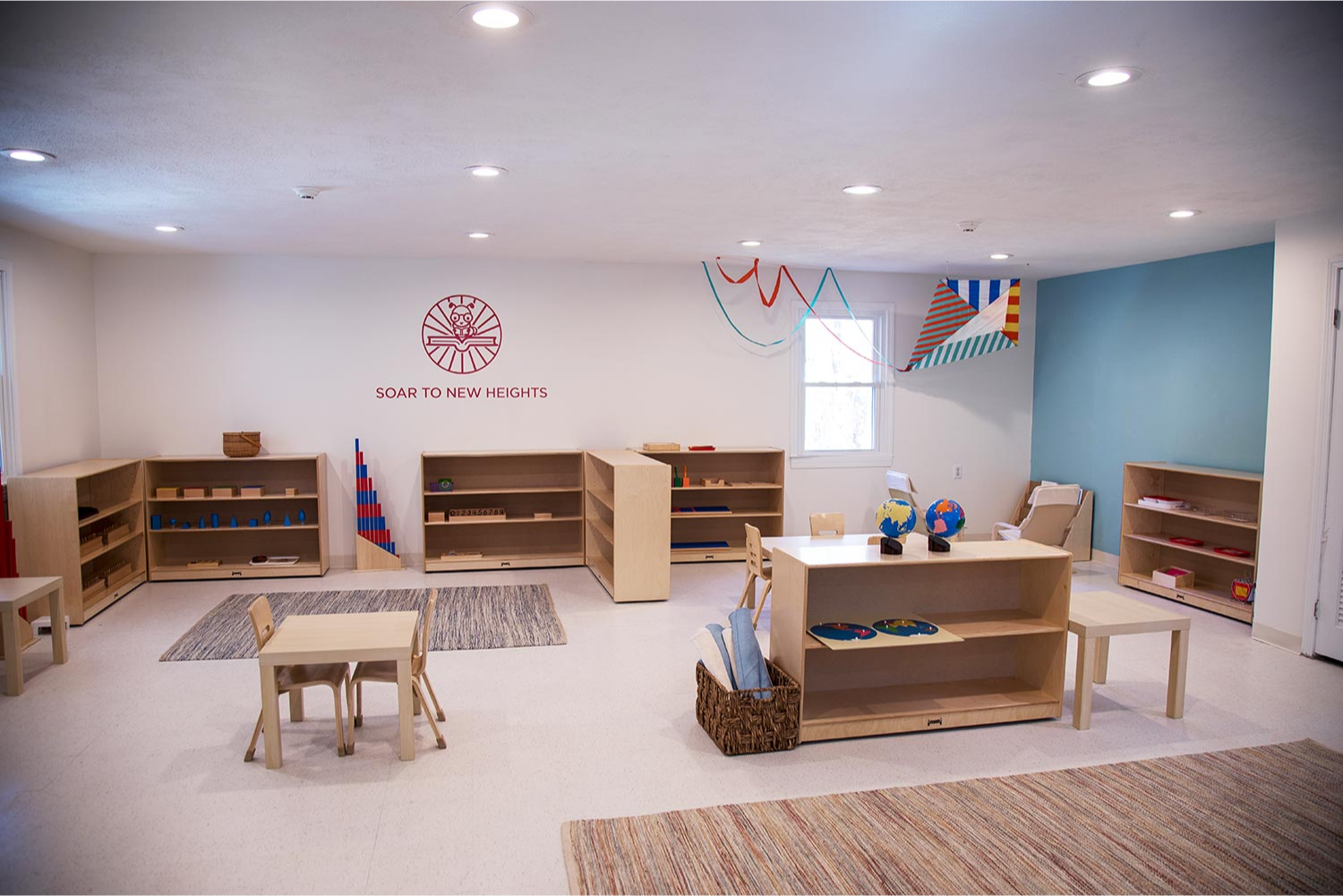 The Primary Room at StoryHeights Montessori Norfolk Campus.