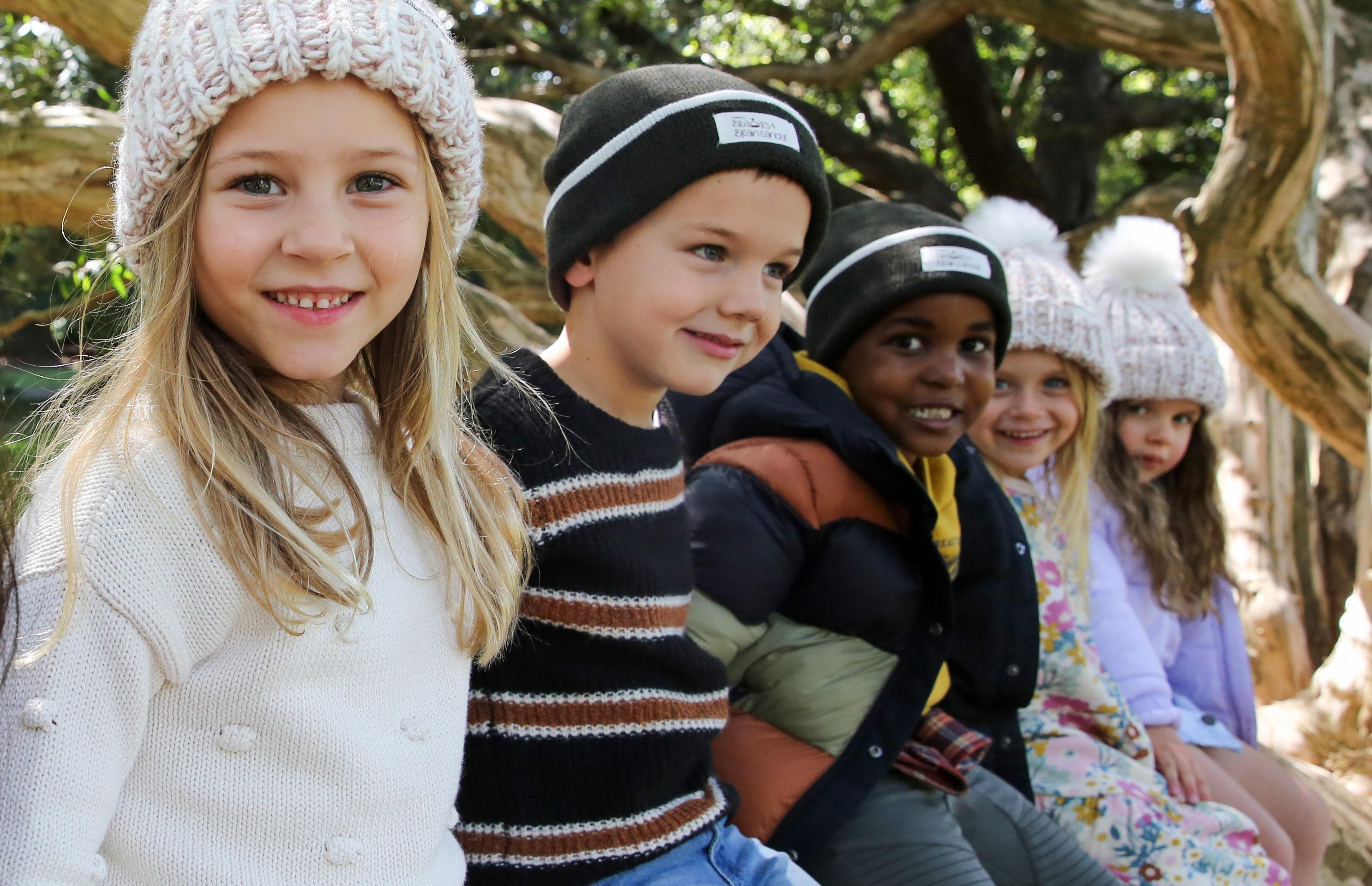 Kids wearing beanies