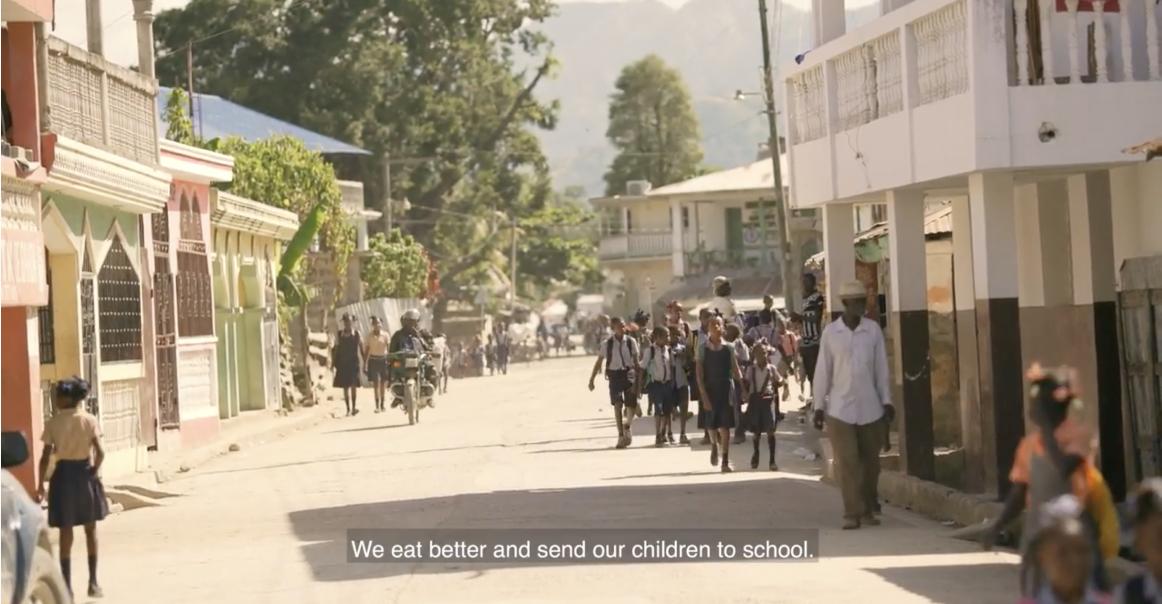 Street view in Haiti