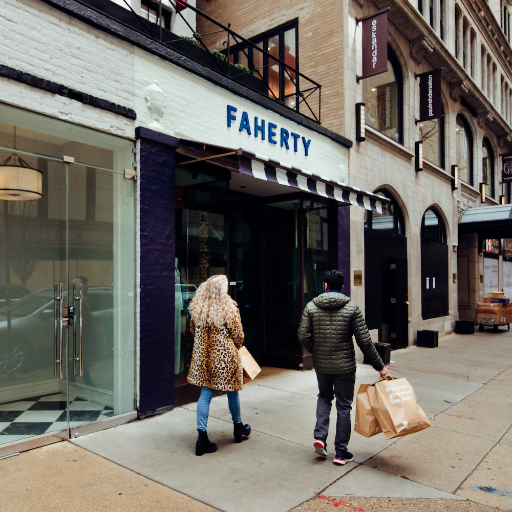 Faherty shoppers in Chicago's Gold Coast