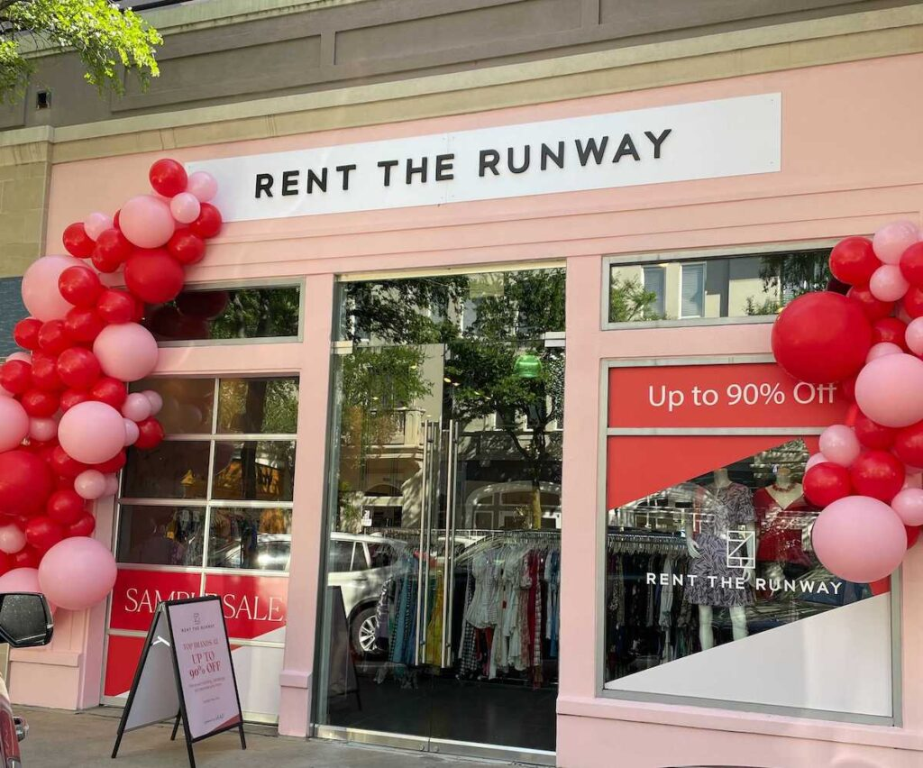Leap Launches Rent the Runway Pop-Up in Dallas West Village