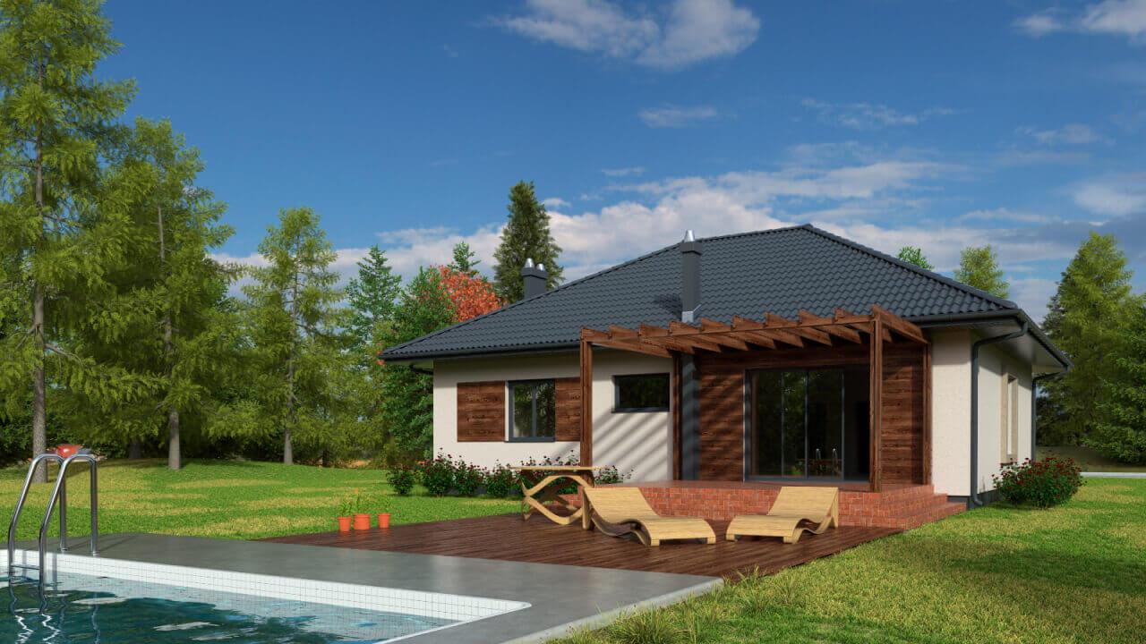 Dom parterowy MP1G ~92,4 m2 + 17,6 m2