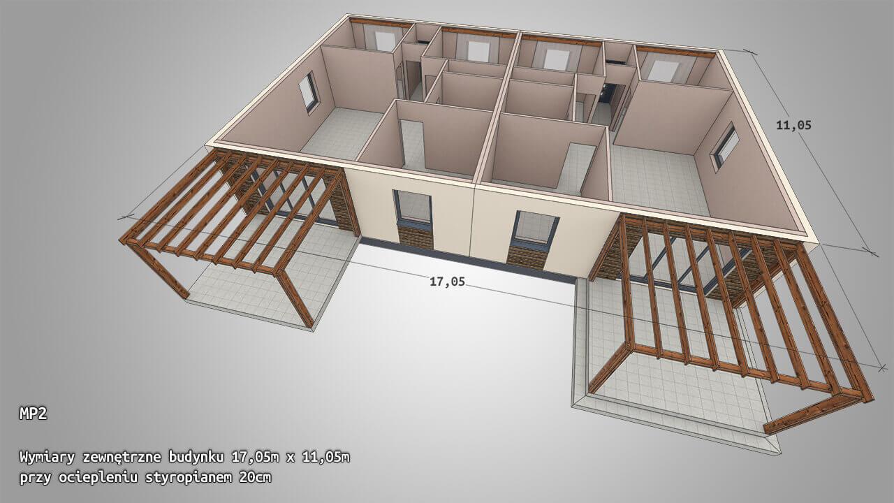 Dom parterowy MP2 2x ~82 m2