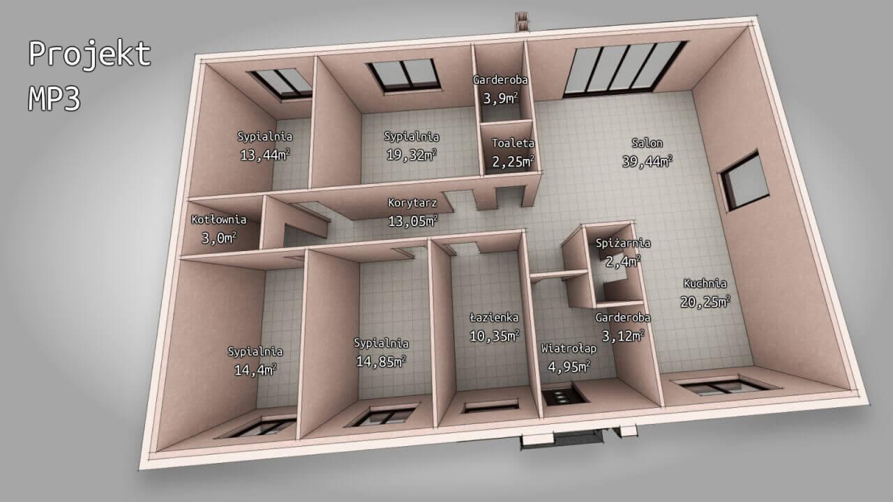 Dom parterowy MP3 ~166 m2