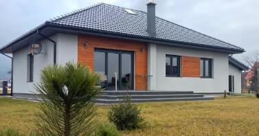 dom parterowy o powierzchni użytkowej 110 m2