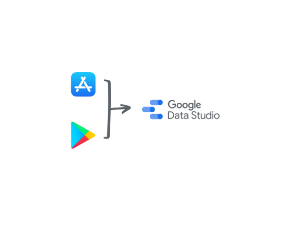 App Store and Google Play to Data studio
