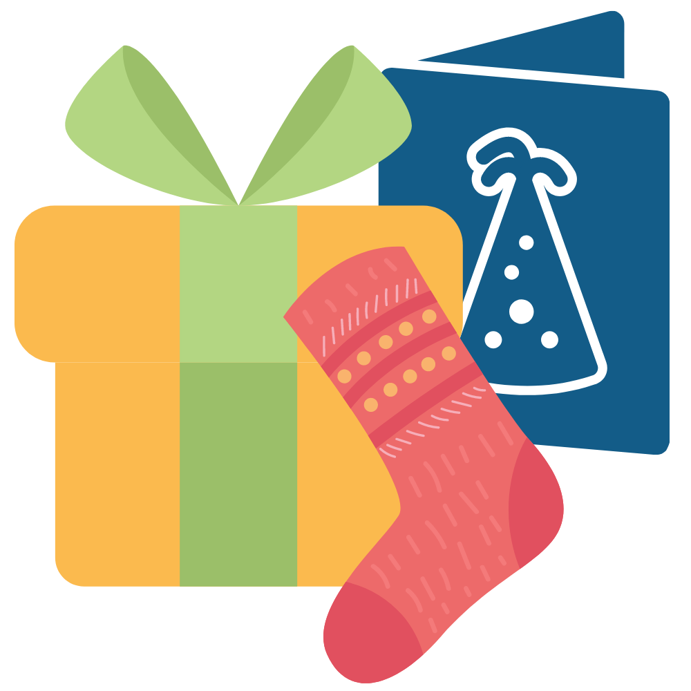 gifts, socks and cards
