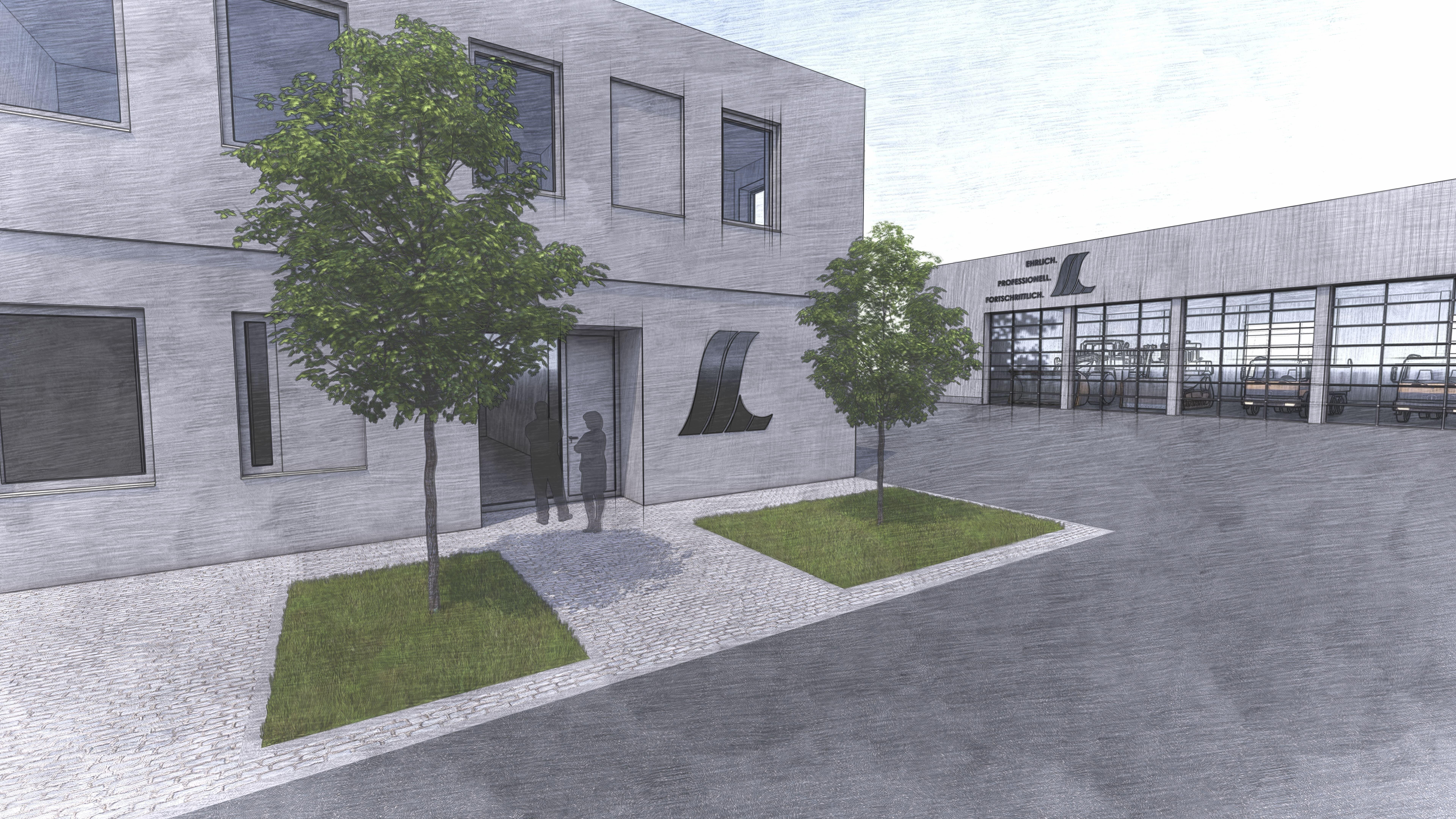 Skizze des neuen Bauhofs