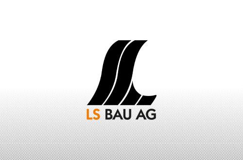 Platzhalterbild, LS Bau AG Logo auf weißem Hintergrund