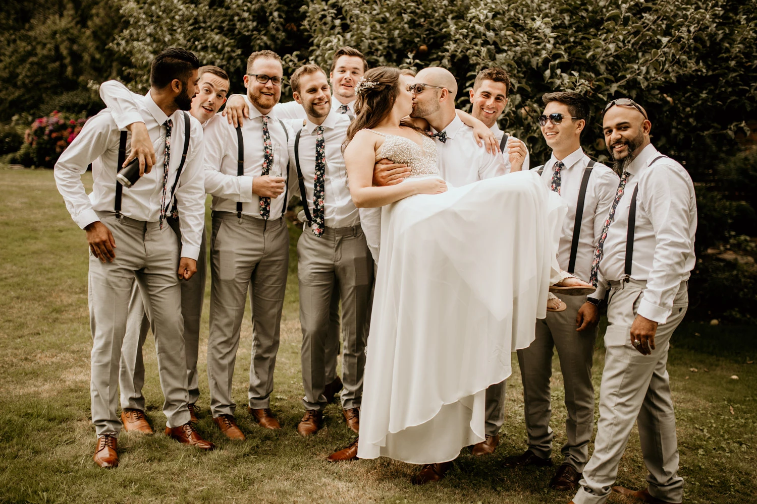 Spencer and Kelly celebrate their wedding with friends and family