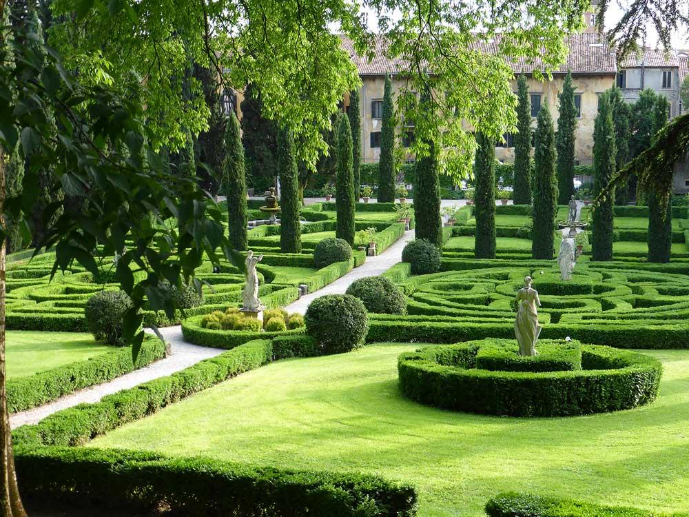 Decorative garden in Italy