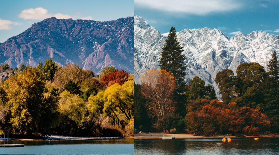 Queenstown and Boulder Blended mountains