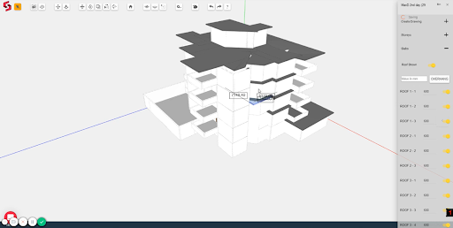 Snaptrude: Sketch to 3D Modelling in parametric