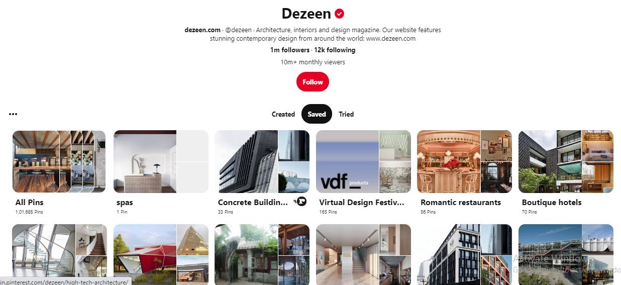 Dezeen on Pinterest for Architects
