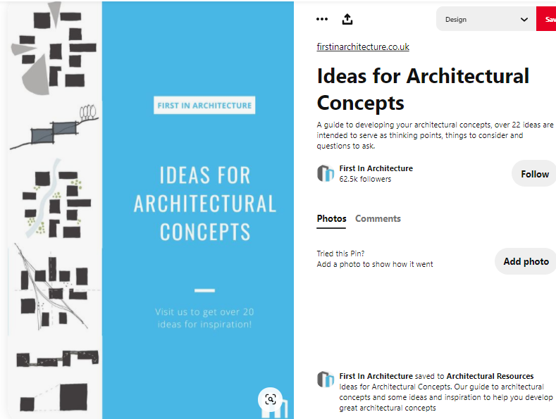 Interesting content for architects on Pinterest