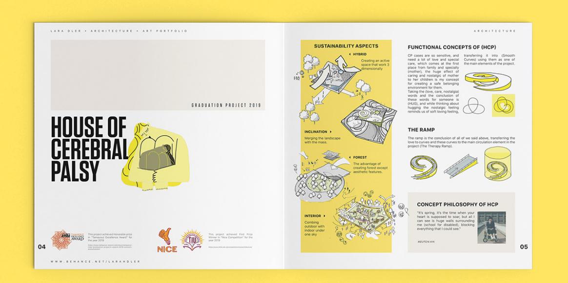 Inspiring student architect portfolio
