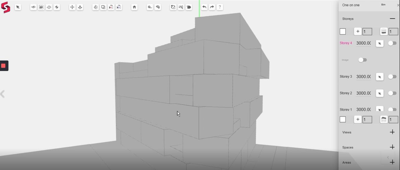 Generating 3D BIM model on Snaptrude BIM software