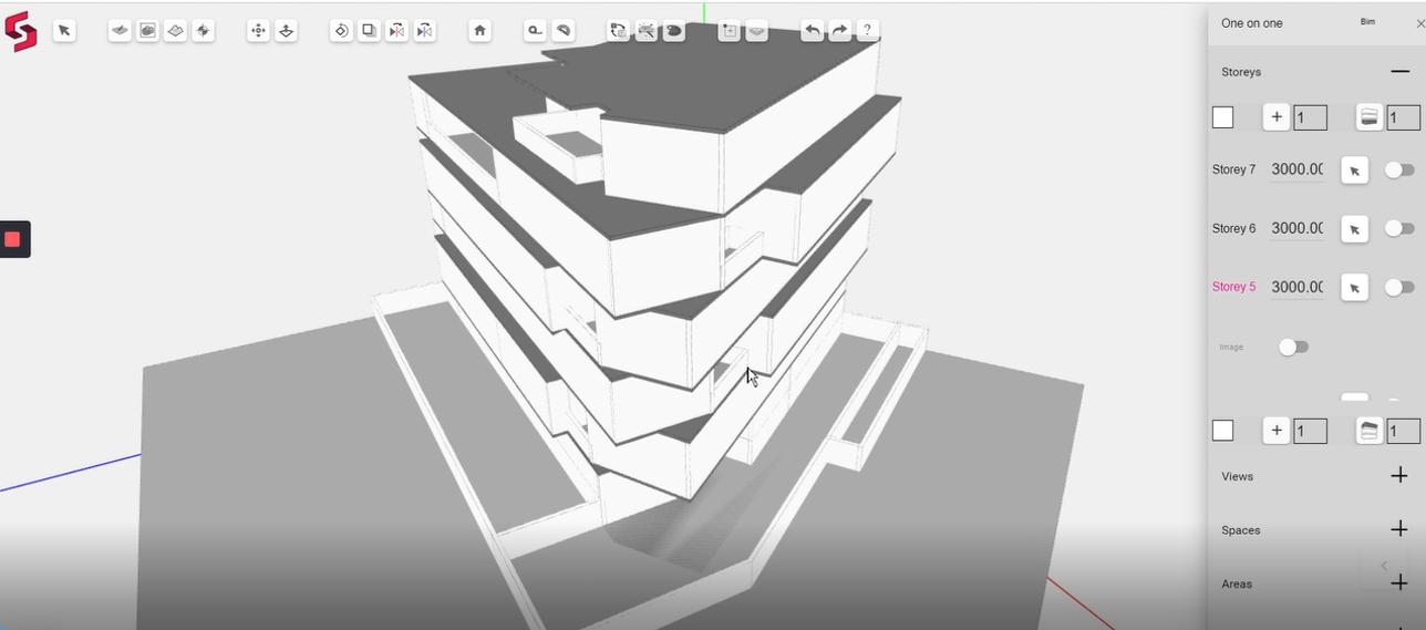 Generating 3D BIM model on Snaptrude