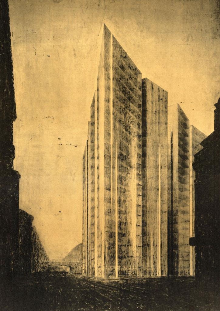 Glass Skyscraper by Ludwig Mies van der Rohe