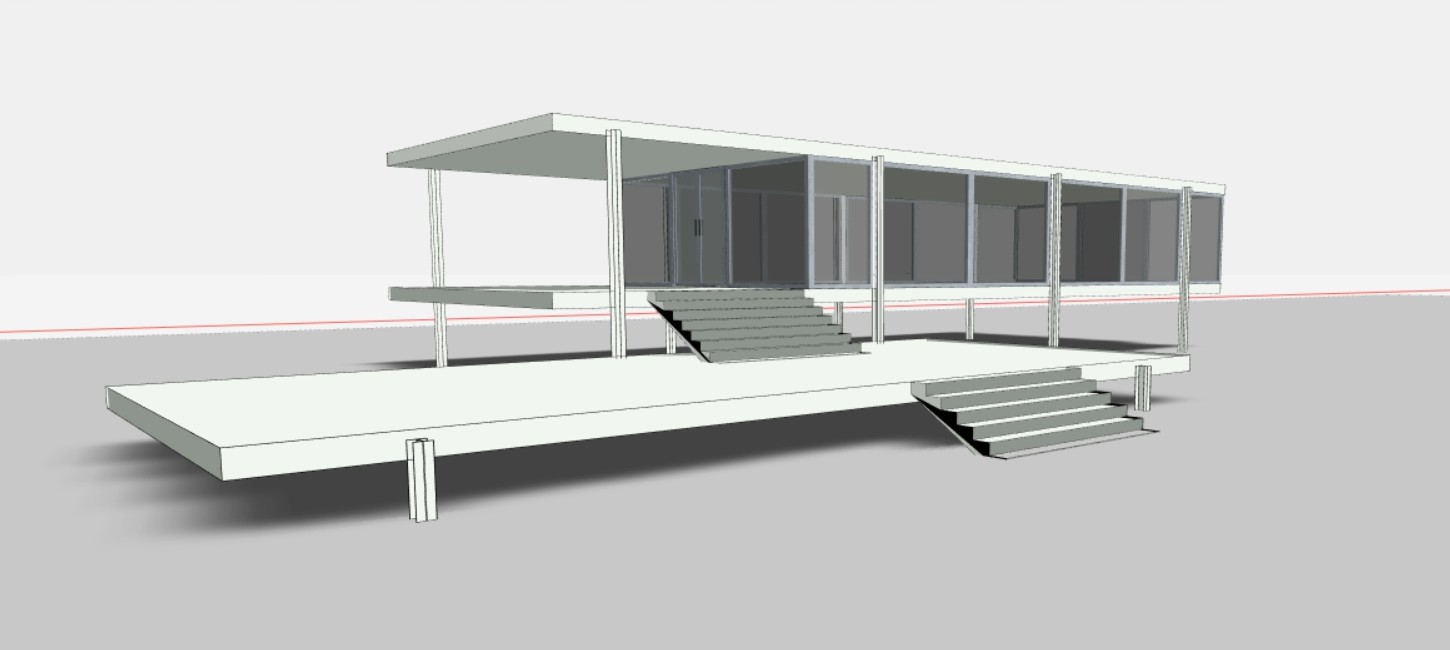 Modelling the Farnsworth House in Snaptrude