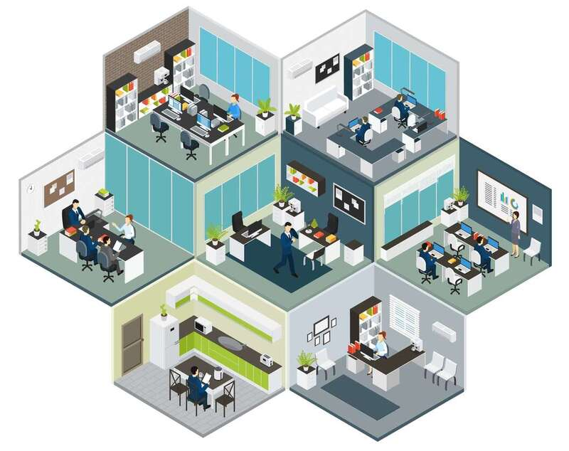 Auto populating office interiors is easy on Snaptrude