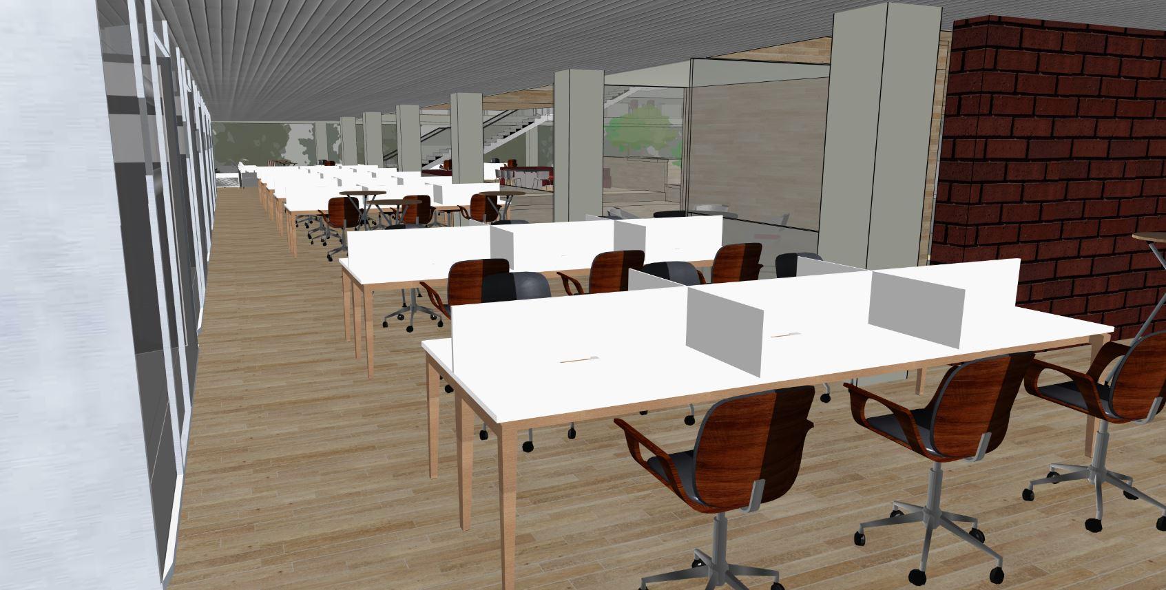 Office space design on Snaptrude BIM tool