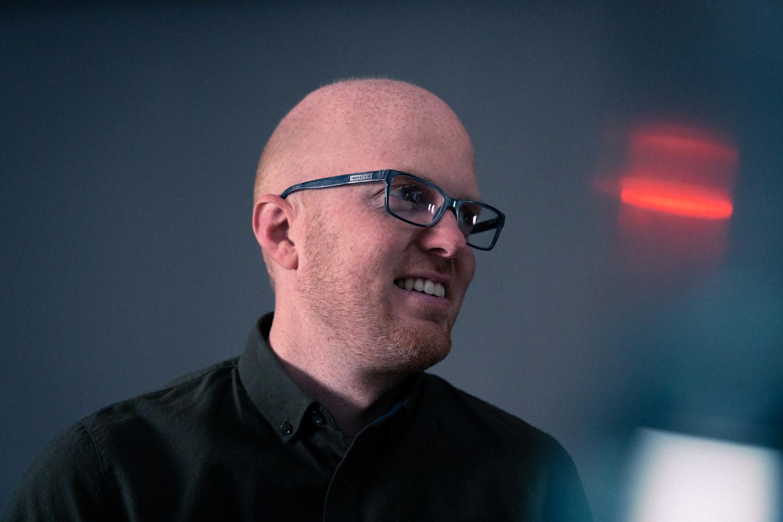 Dette er Peter Meldgaard. Han kommer fra Danmark. Fotograf: Kevin Kulterud