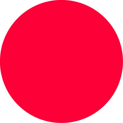 a red circle