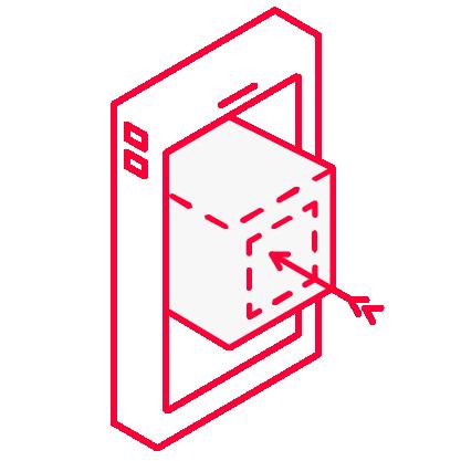 Icon für Strategie mit einem Smartphone und einer Zielscheibe