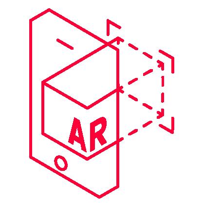 Icon für Entwicklung von einer 3D Grafik in einem Smartphone