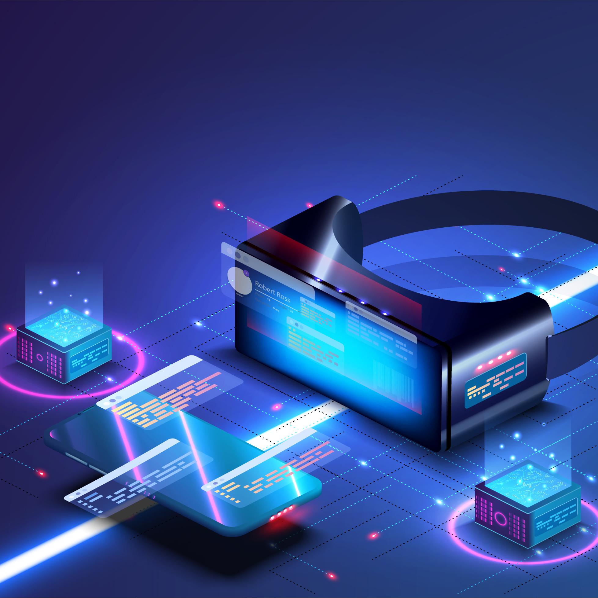 Illustration einer VR Brille